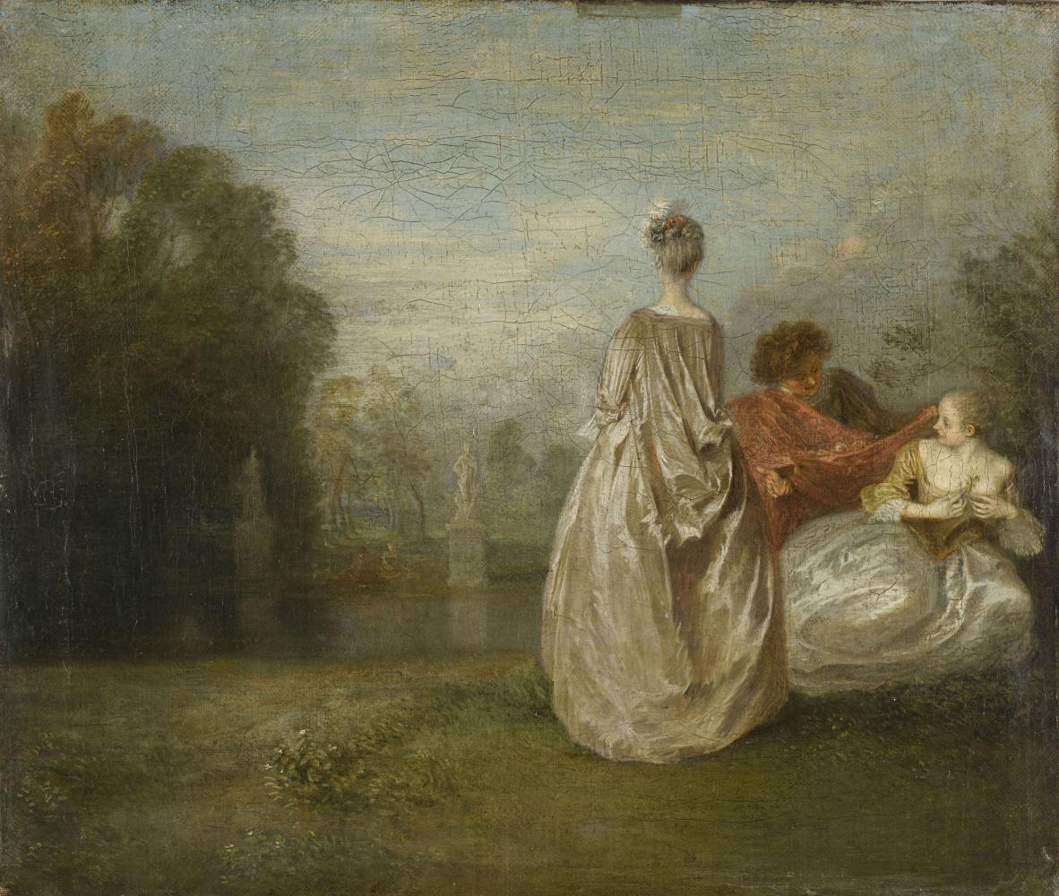 Antoine Watteau. Two cousins