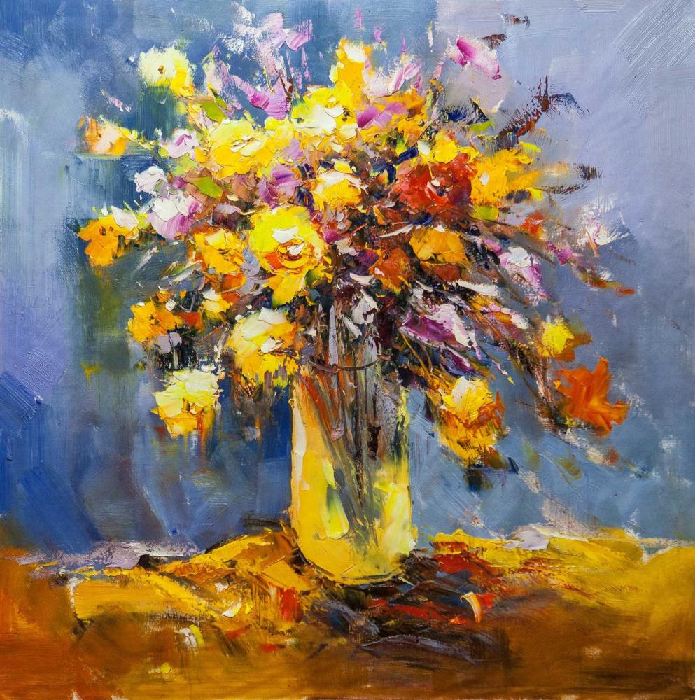 Maria Potapova. Yellow bouquet