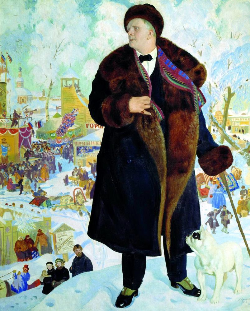 Борис Михайлович Кустодиев. Портрет Шаляпина