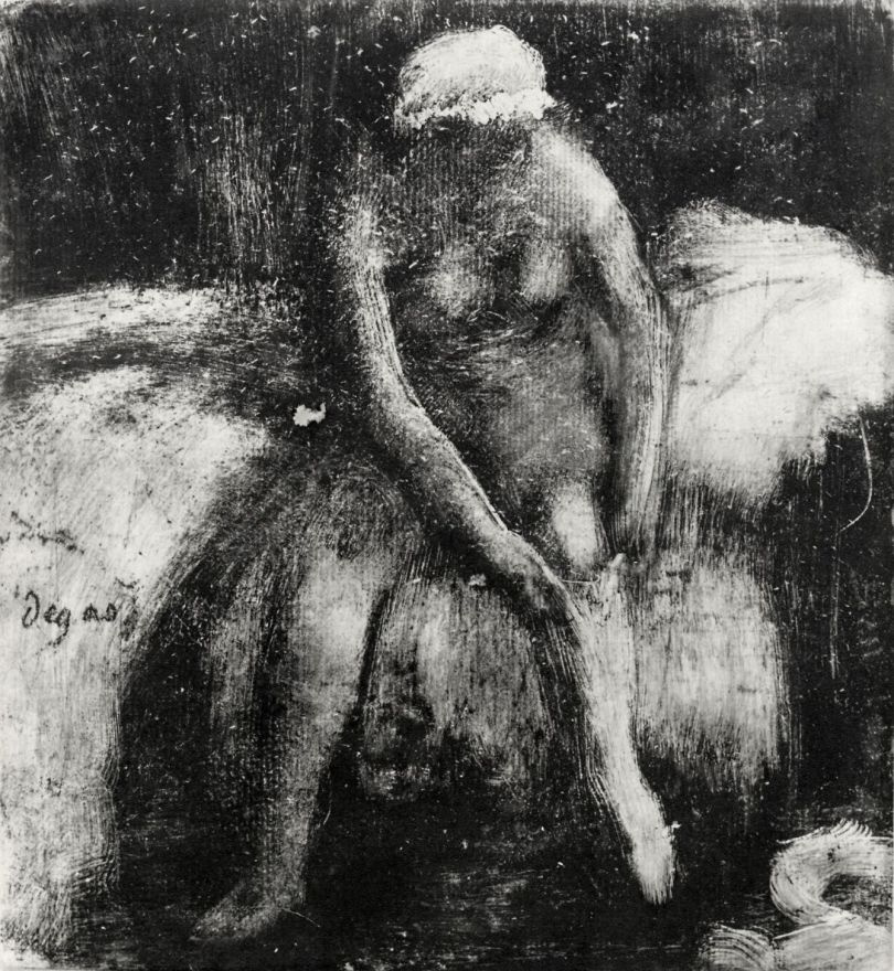 Эдгар Дега. Вставание (Женщина, натягивающая чулок)