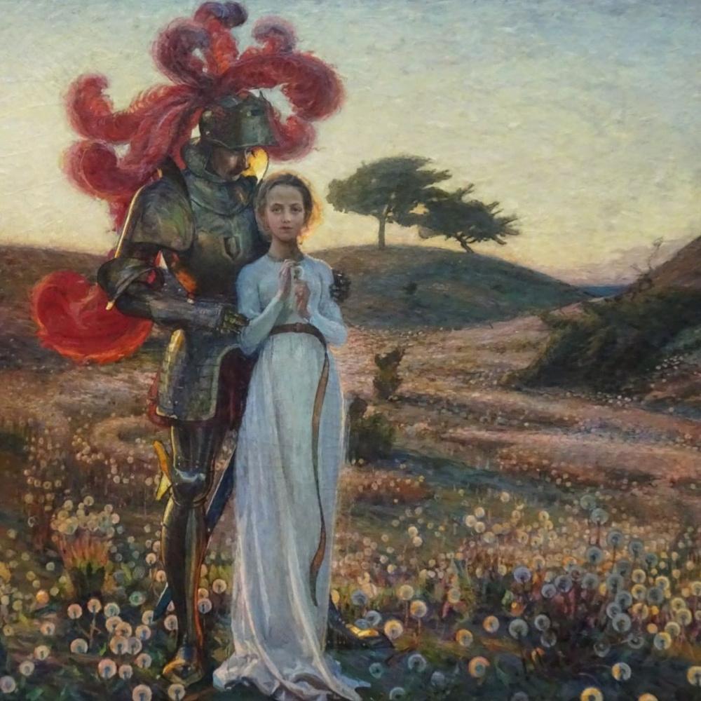 Sven Richard Berg. Knight and girl.