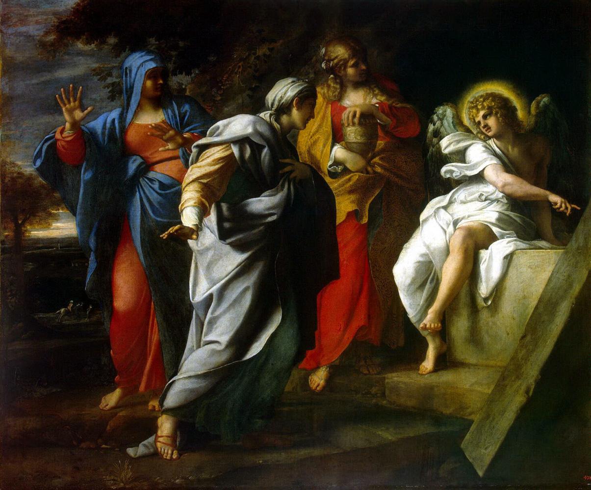 Аннибале Карраччи. Святые жены у гроба Христа