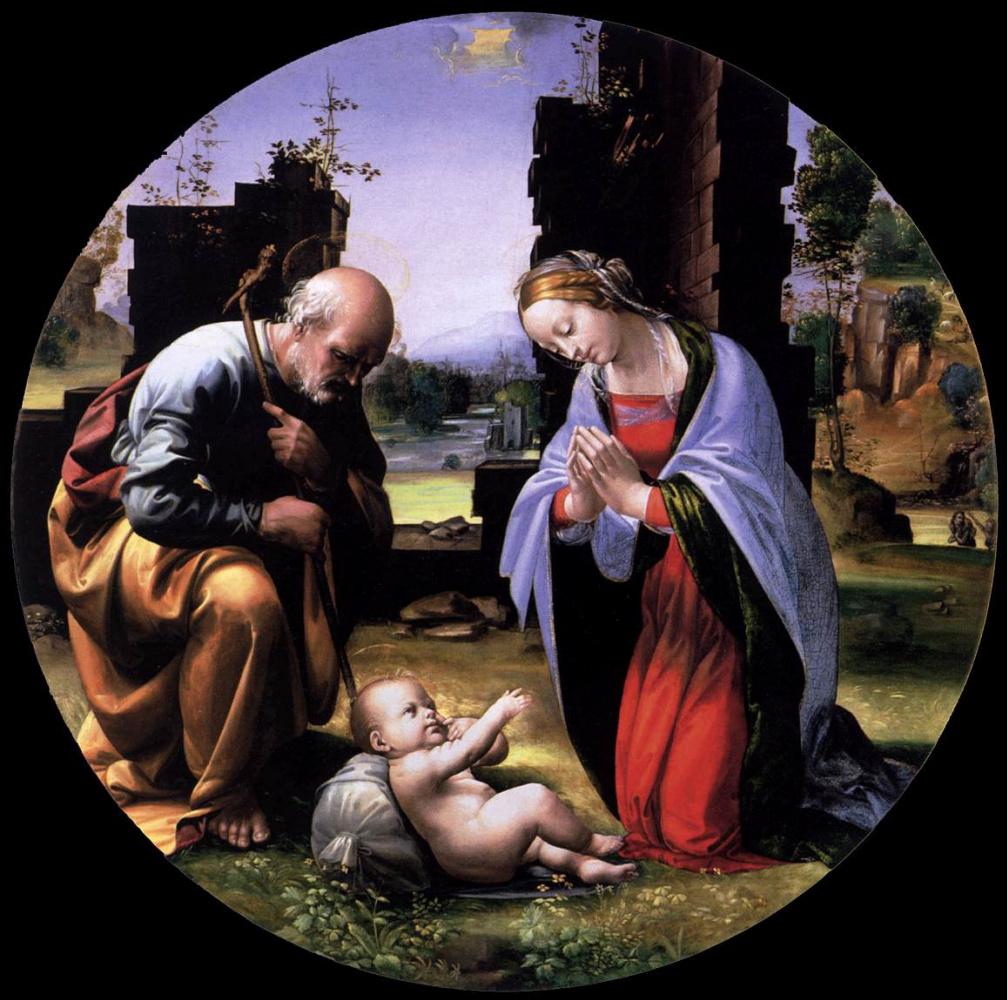 Фра Бартоломео. Adoration of the Infant (Tondo)
