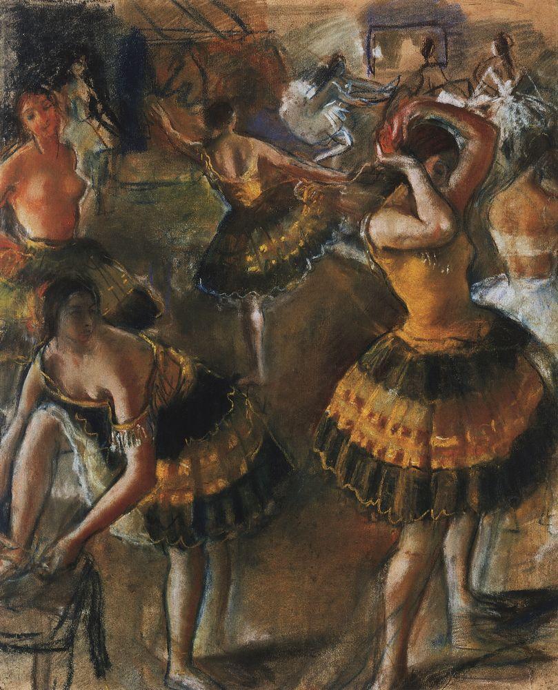 Zinaida Serebriakova. Ballerina in the bathroom