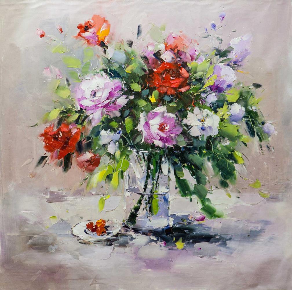 Maria Potapova. A bouquet of roses