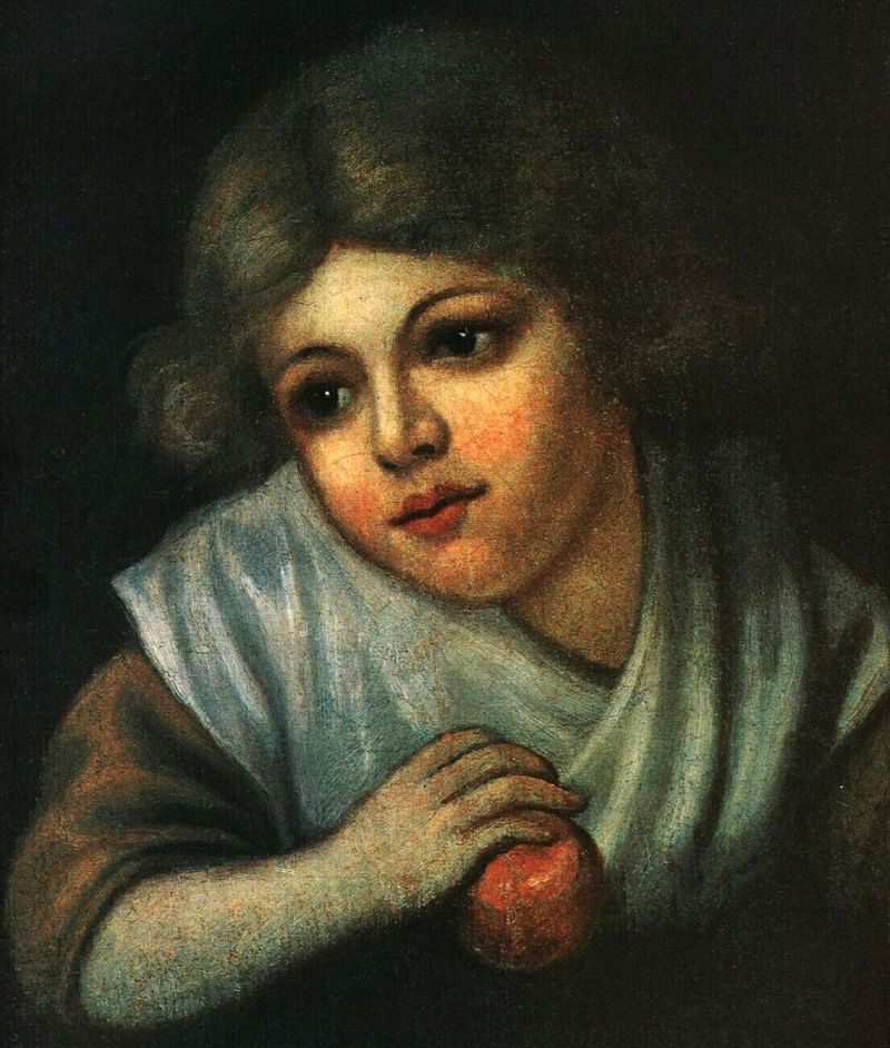 Vasily Andreevich Tropinin. A girl with an Apple
