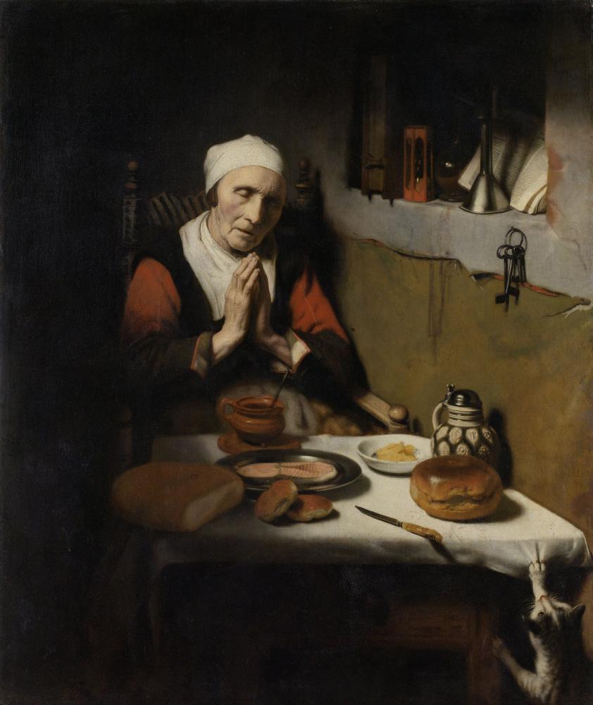 Николас Мас. Старая женщина за молитвой (Бесконечная молитва)
