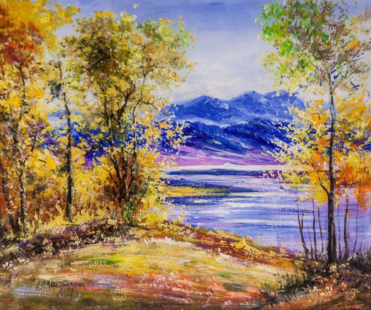 Andrey Sharabarin. Autumn gold and azure N2