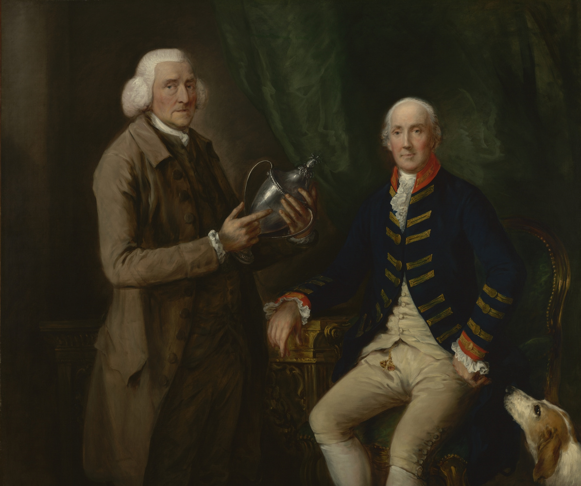 Thomas Gainsborough. Portrait of William Anne Hollis, 4th Earl of Essex, showing the Cup to Thomas Clutterbuck from Watford