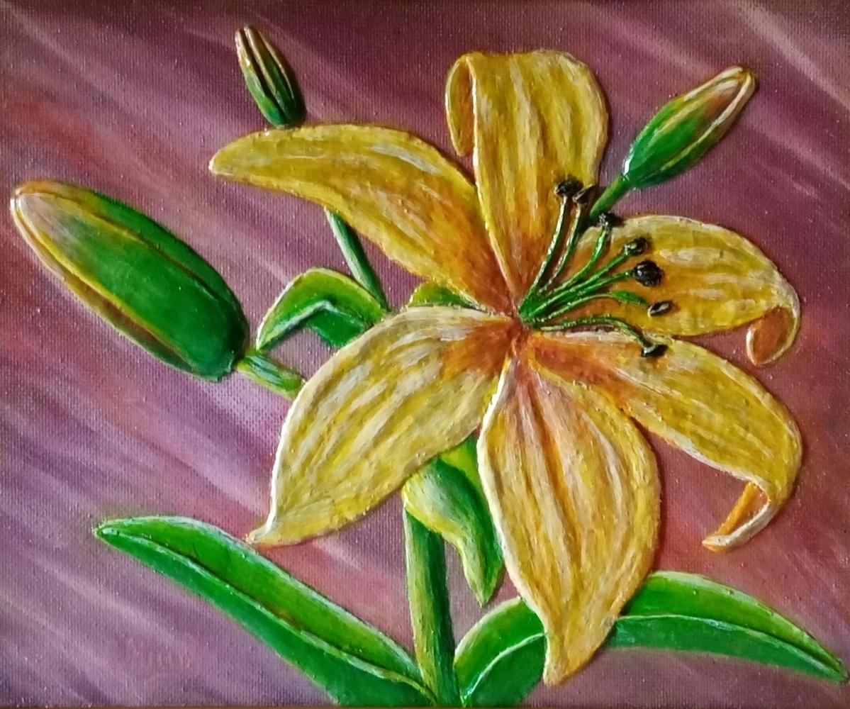 Vasiliy Mishchenko. Yellow lily