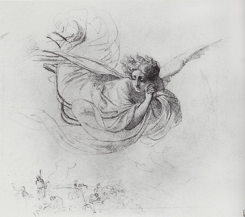 Карл Павлович Брюллов. Летящий ангел, оплакивающий жертвы инквизиции