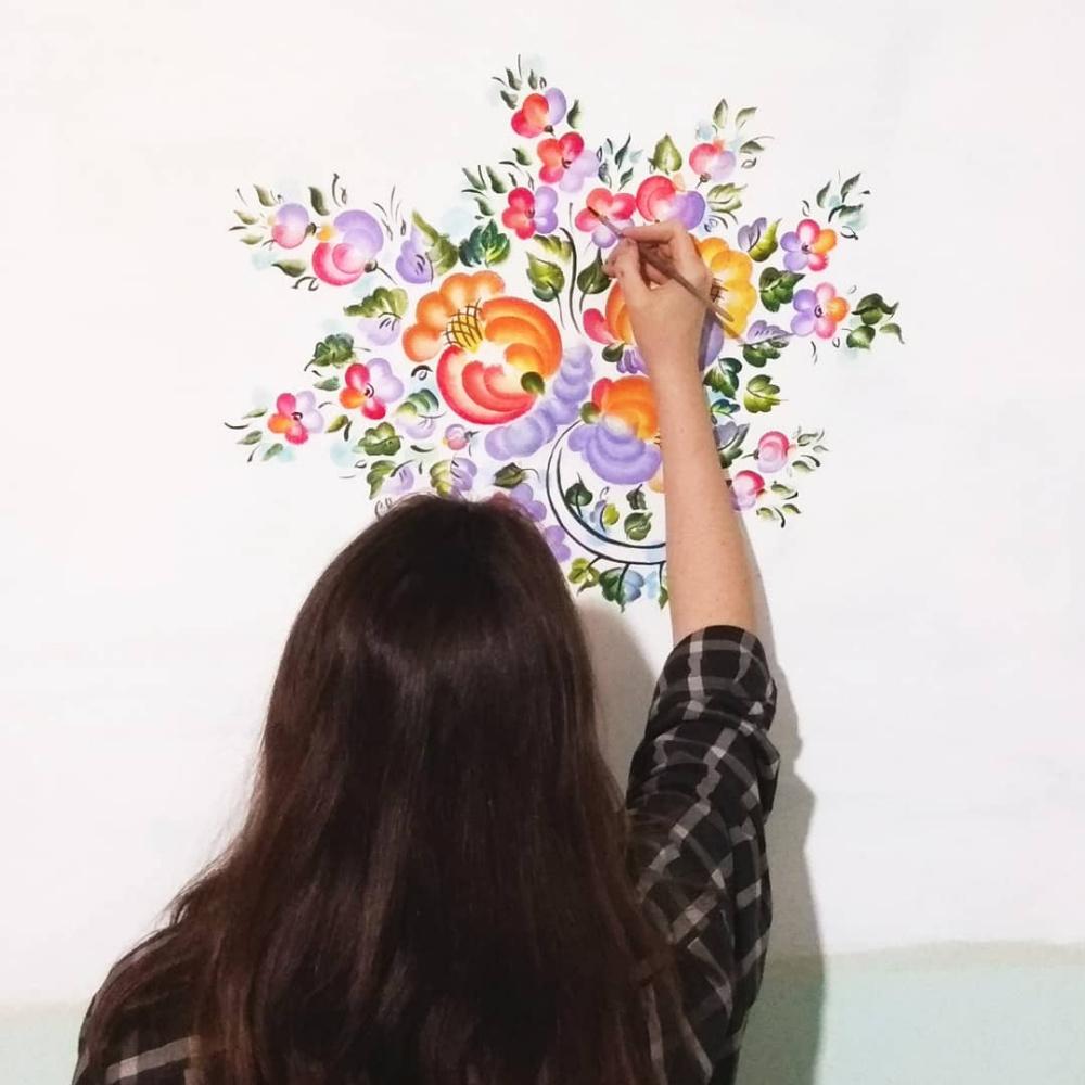 Alina Petrovna Chaplygina. Blooming garden