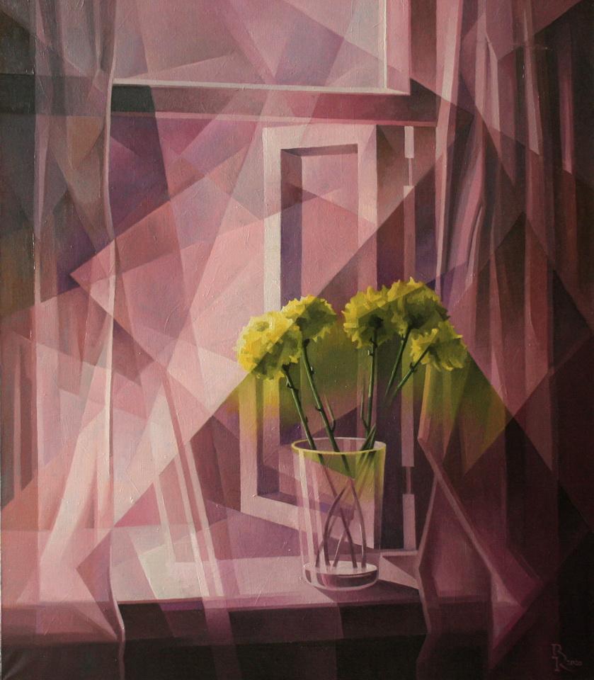 Vasily Krotkov. Lilac haze. Cubo-futurism