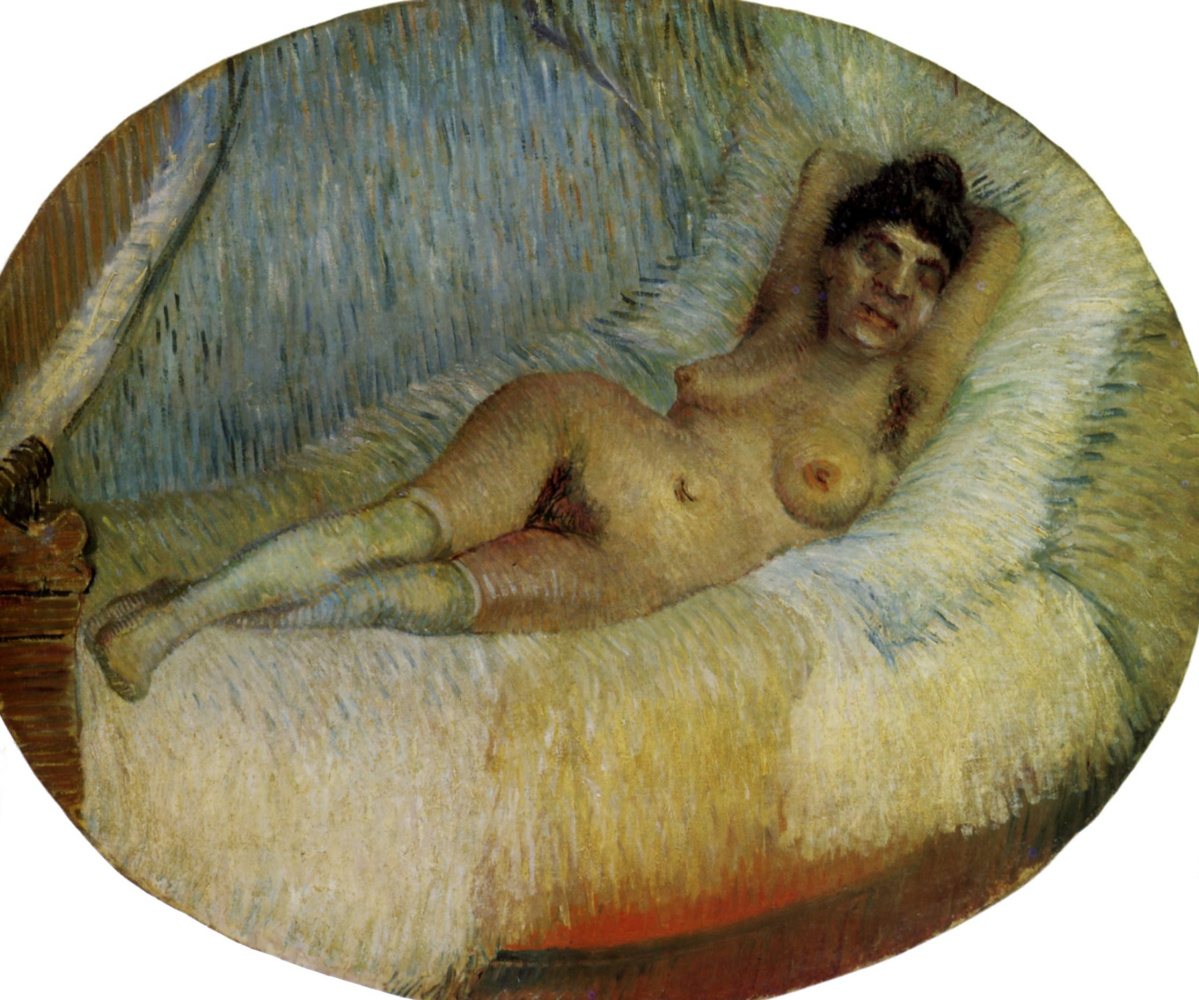 Vincent van Gogh. Nude on the bed