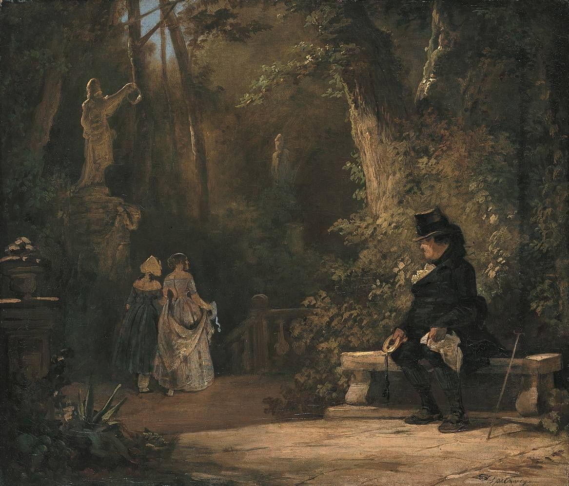 Karl Spitzweg. A widower