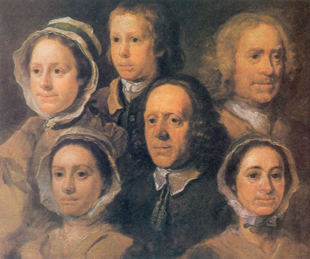 William Hogarth. Portrait of six servants