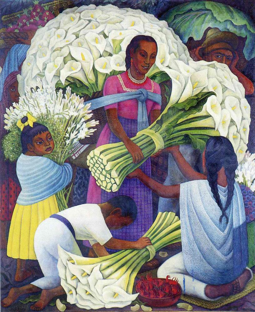 Диего Мария Ривера. Белые букеты