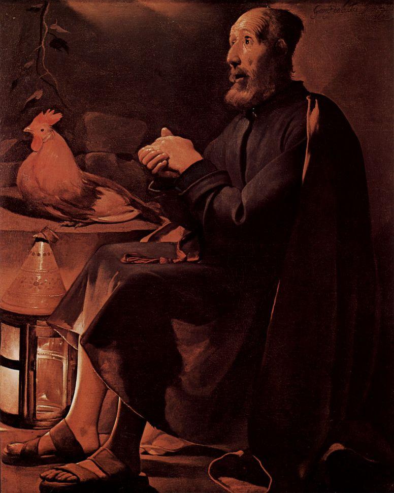 Georges de La Tour. The repentance of St Peter