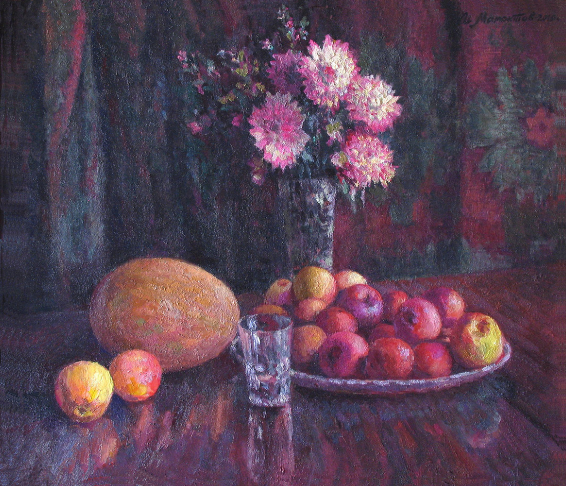 Ivan Moiseevich Mamontov. Still life with apples