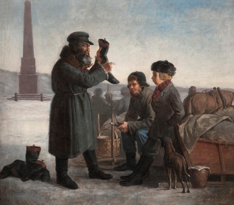 Альберт Густав Аристид Эдельфельт. Еврей, продающий ботинки. 1873