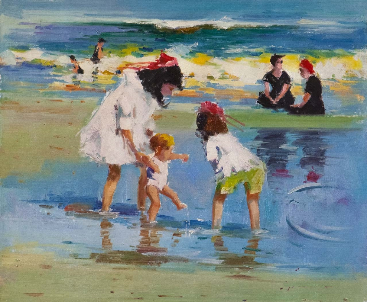 Savely Kamsky. Children on the seashore. The first steps