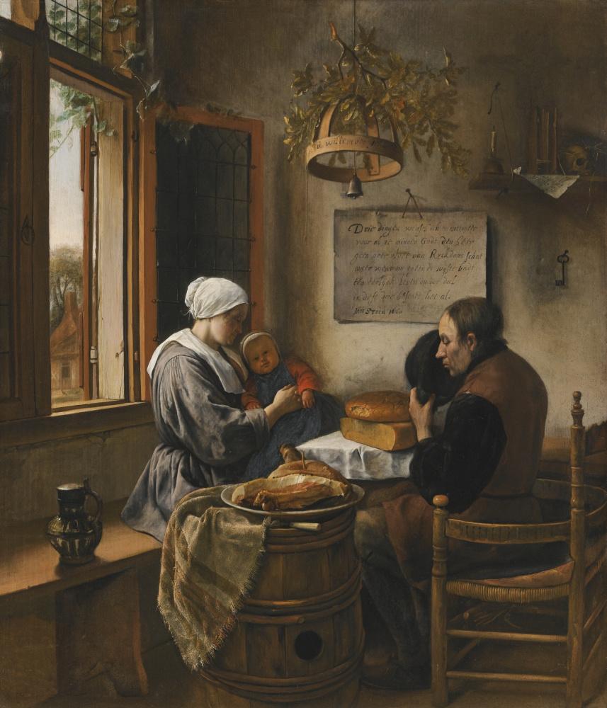 Ян Стен. Молитва перед едой