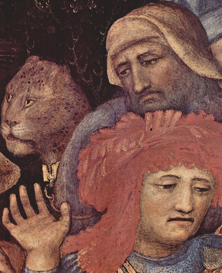 Джентиле да Фабриано. Поклонение волхвов, деталь: Последователи