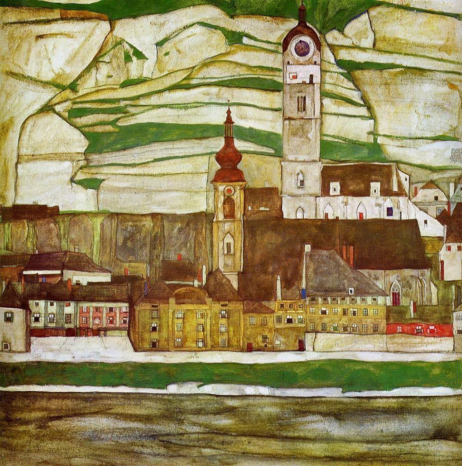 Egon Schiele. Stein on the Danube seen from the south