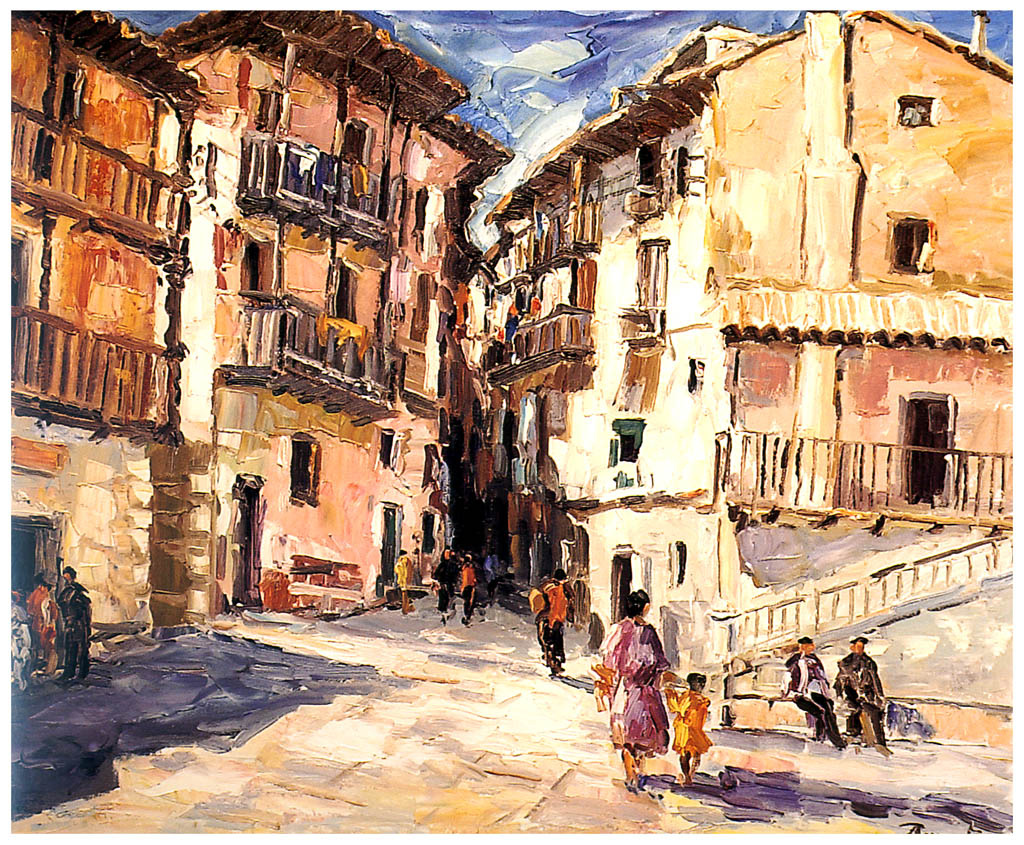 Antonio Reverte. Street, illuminated by the sun
