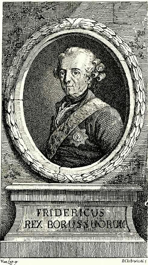 Даниэль  Николай Ходовецкий. Портрет Фридриха Великого