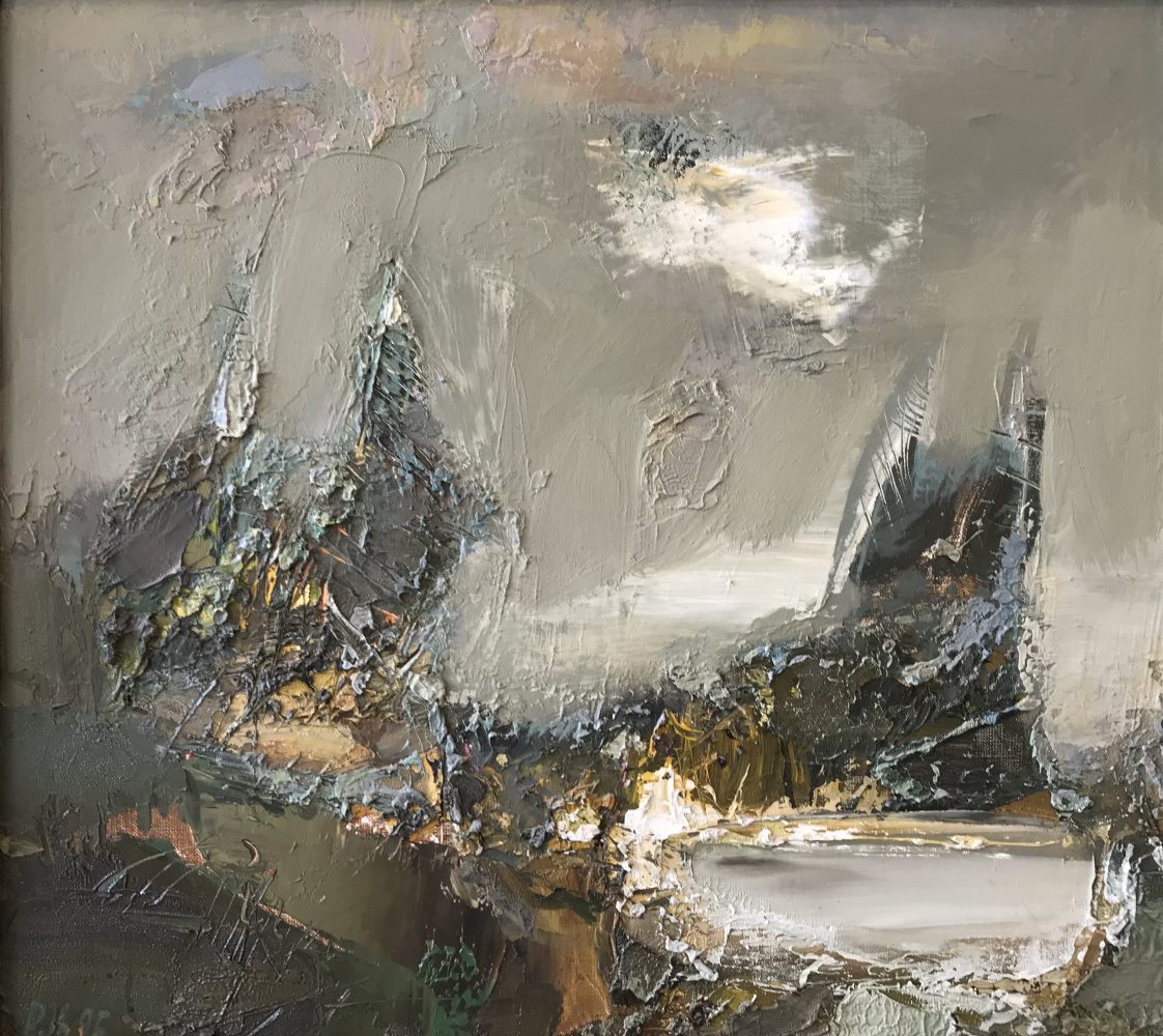 Nikolay Iosifovich Rybakov. Landscape with a lake