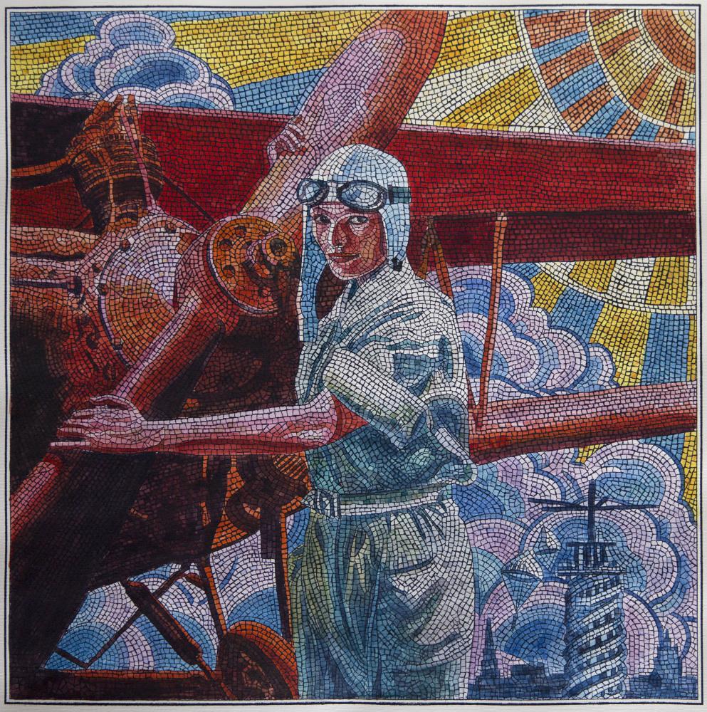 Анатолий Николаевич Ганкевич. She is a pilot