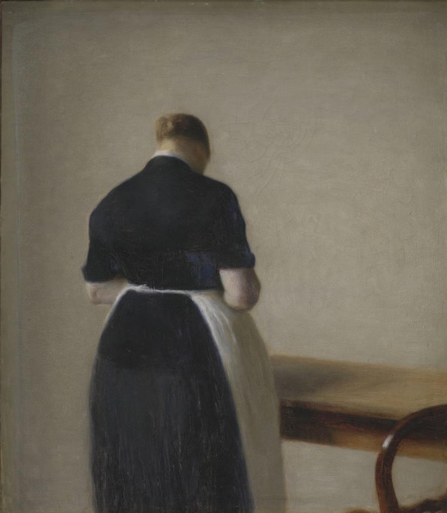 Вильгельм Хаммерсхёй. Женщина, стоящая спиной