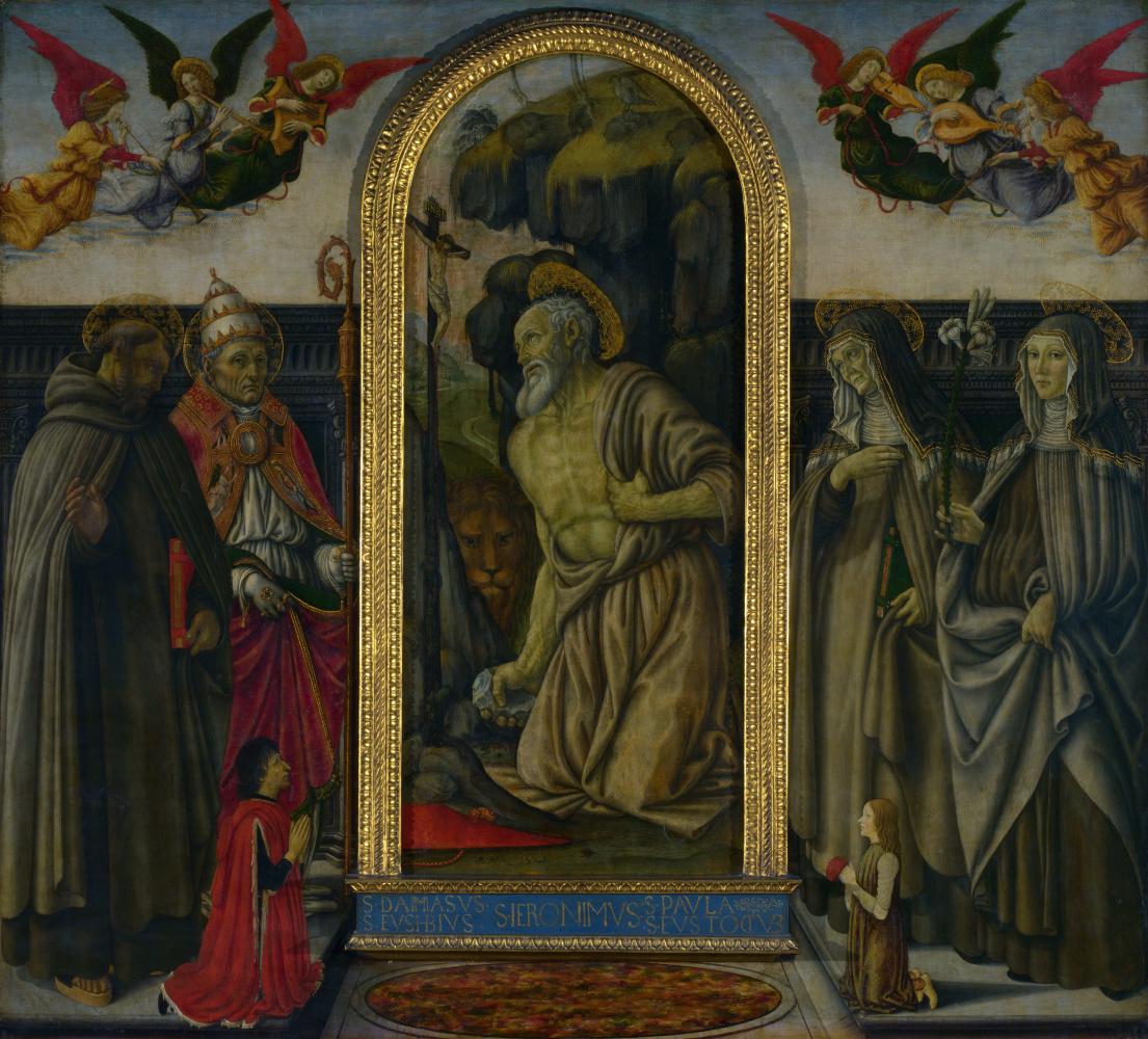 Франческо Боттичини. Святой Иероним в покаянии со святыми и покровителями