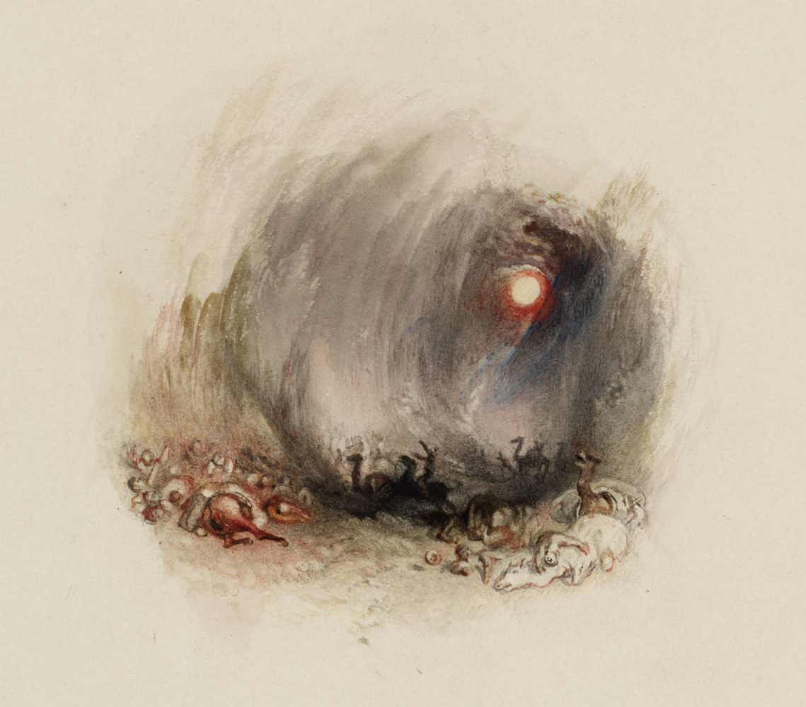 "Joseph Mallord William Turner. A hurricane in the desert (Sandstorm) for ""Poems"" Rogers"