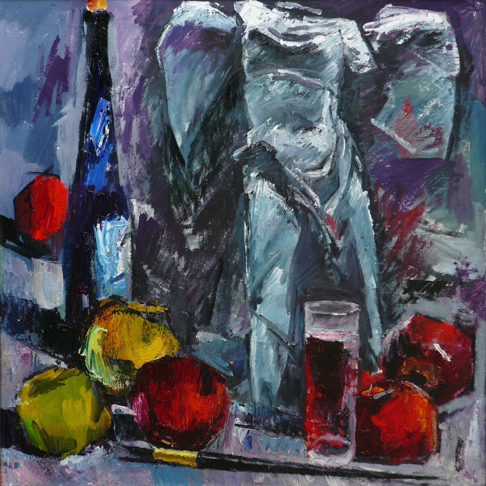 Yuri Leonardovich Uzhdavini. Nika apples wine brush.