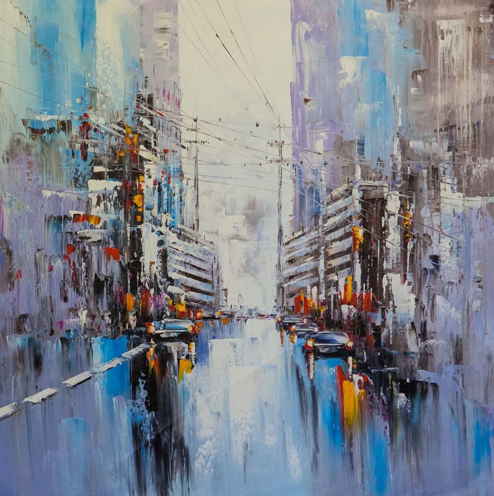 (no name). Kaleidoscope of streets. Basic blue