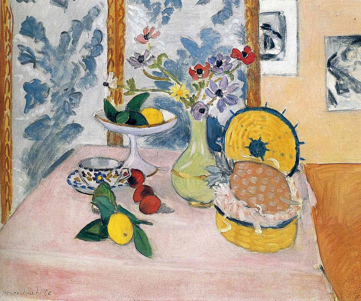 Анри Матисс. Натюрморт с цветами, ананасом и лимоном