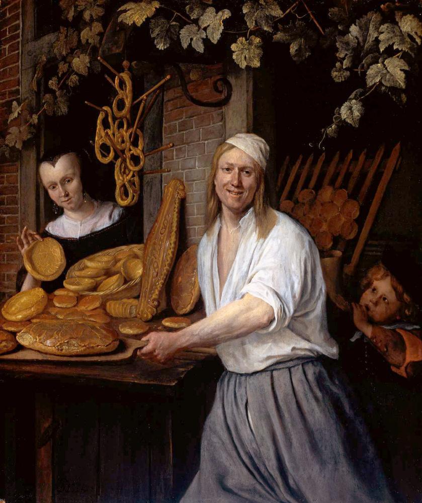 Jan Steen. The Leiden Baker arent, Ostwald and his wife Katherine, Kaysersberg