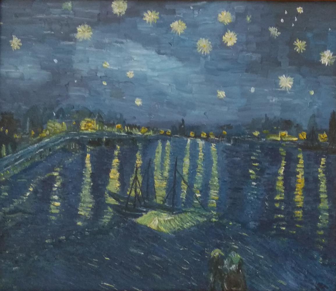 Paul. Starry night over Rhone Van Gogh