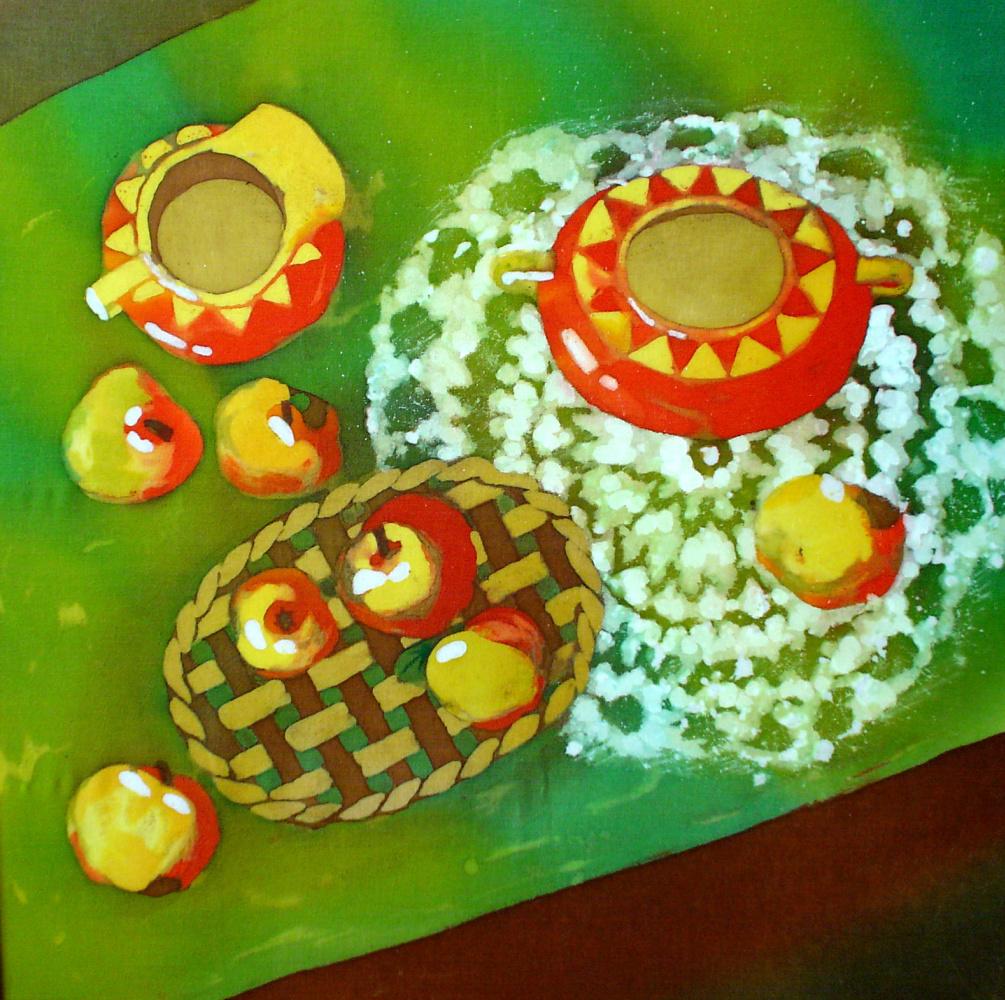 Violetta Valerievna Mitina. Still life with apples
