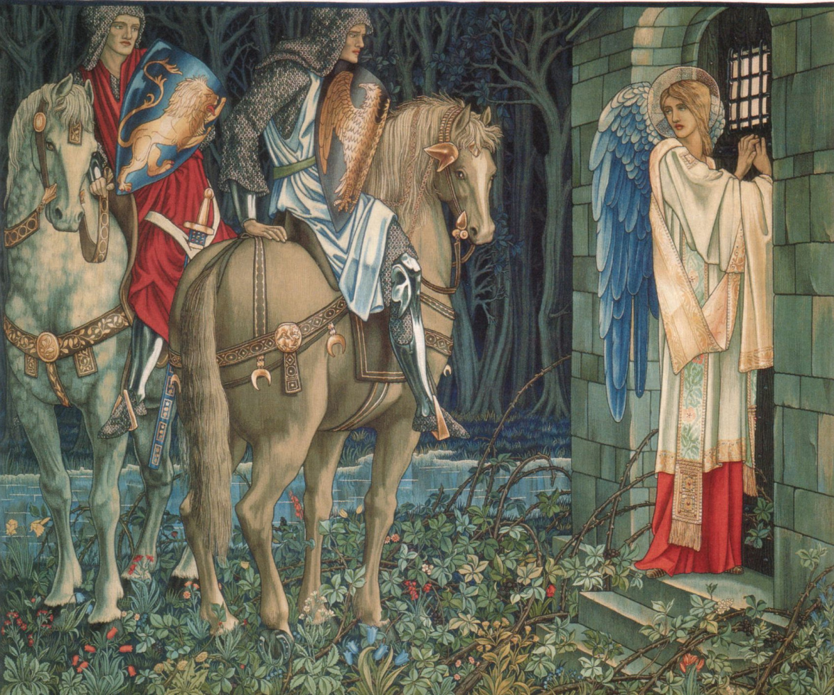 """William Morris. Series """"In Search of the Holy Grail"""". The failure of Sir Gawain (with Edward Burne-Jones)"""