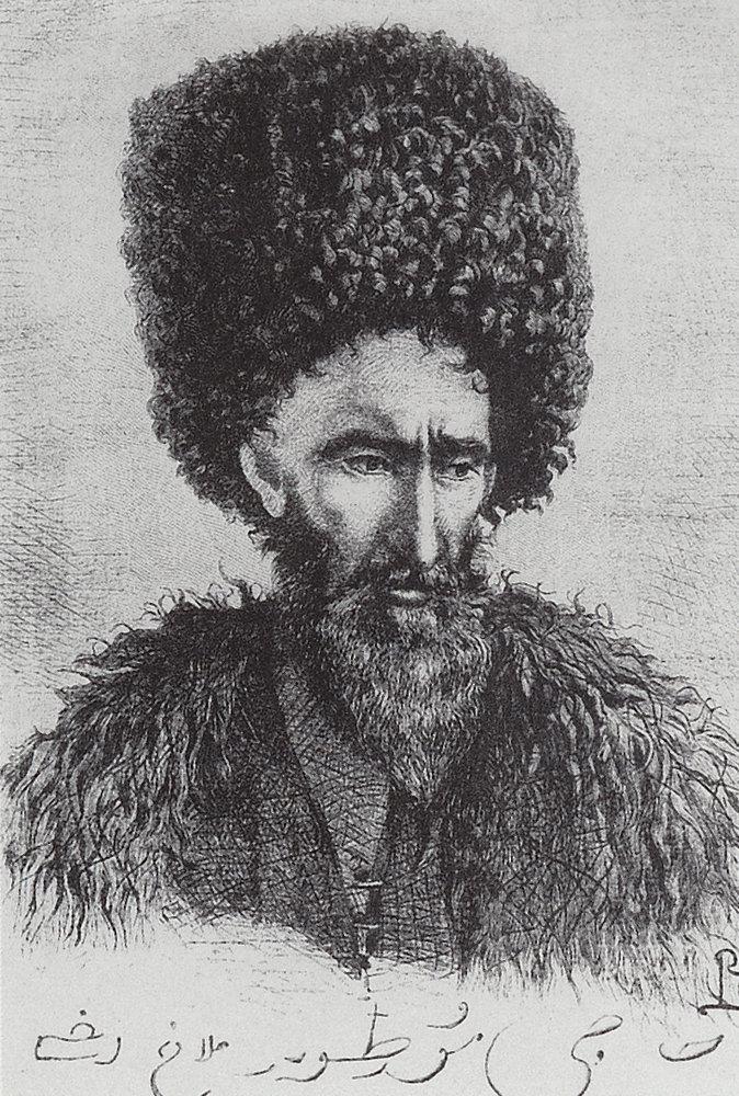 Василий Васильевич Верещагин. Лезгин Хаджи Муртуз-ага из Дагестана