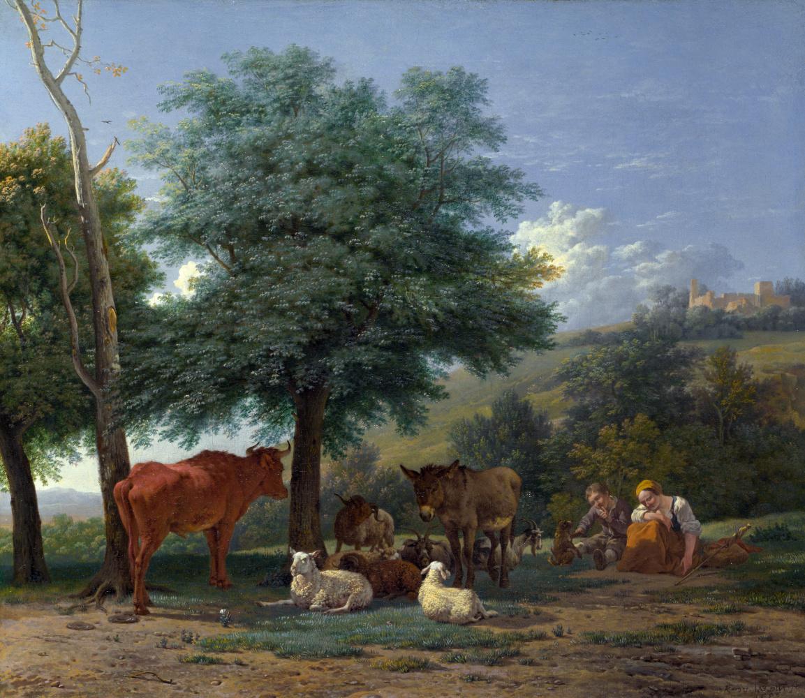 Карел Дюжарден. Мальчик и пастушка