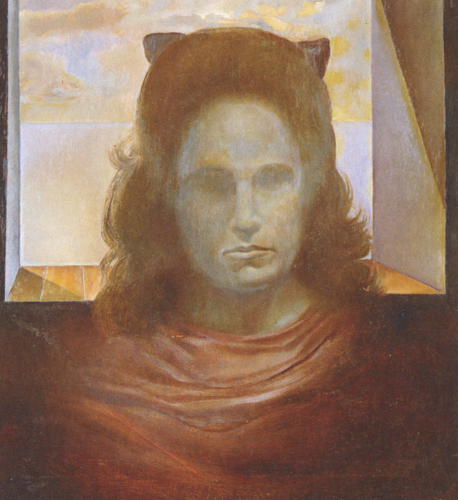 Salvador Dali. Portrait of gala against the light