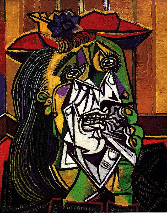 Pablo Picasso. Crying woman