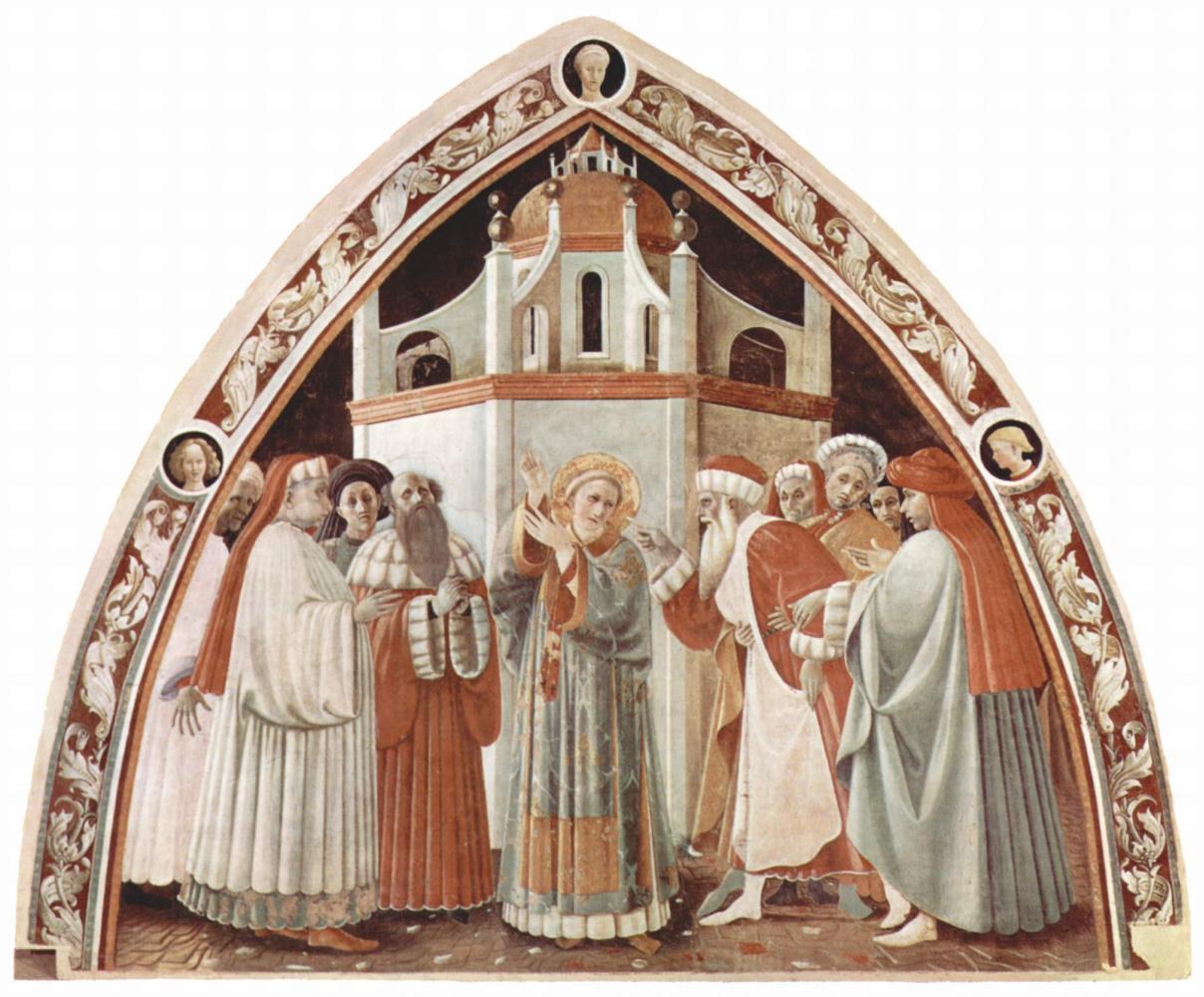 Паоло Уччелло. Фрески из собора в Прато. Св. Стефан