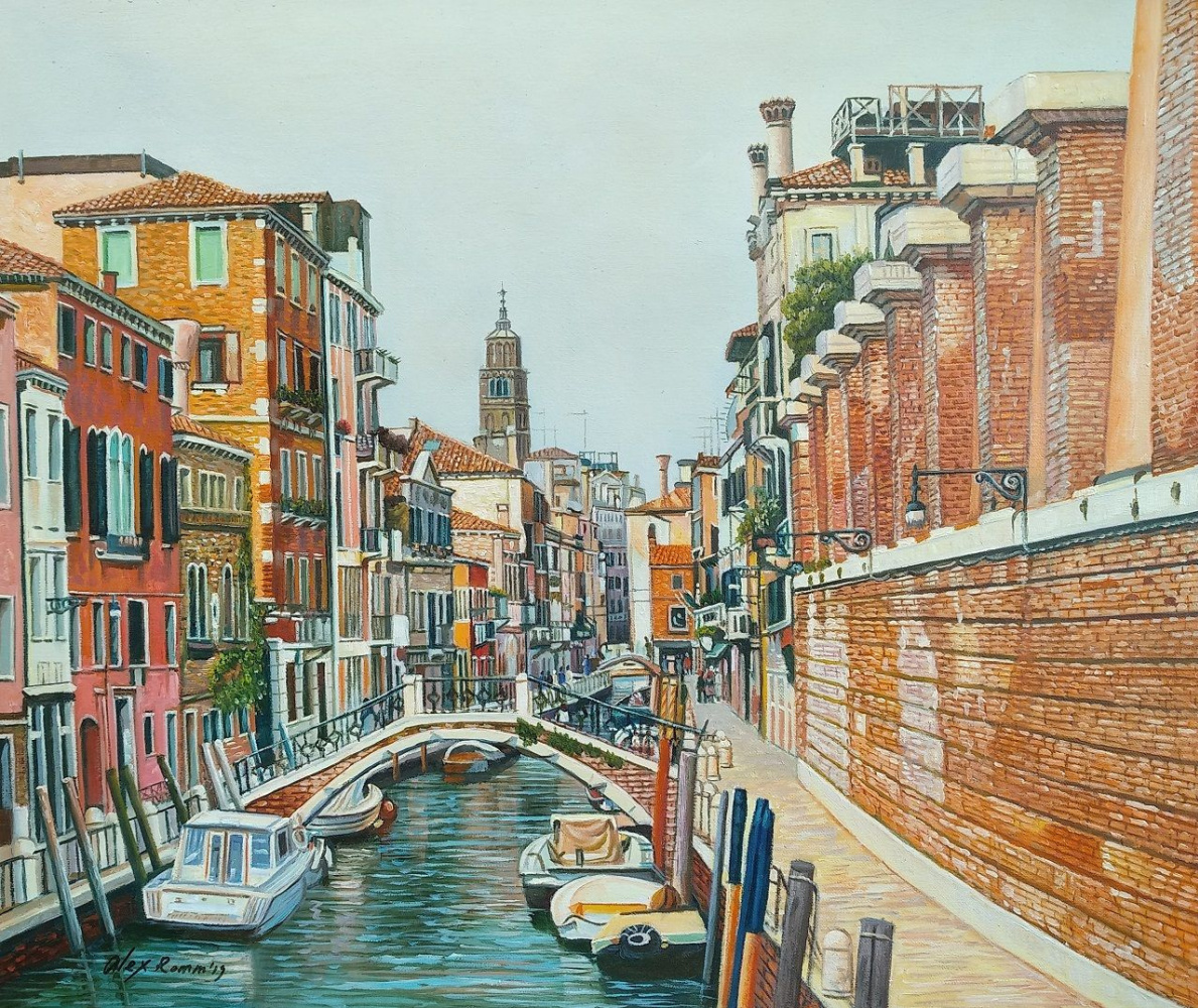 Alexander Romm. Venetian holidays. Walk on the N3 canals