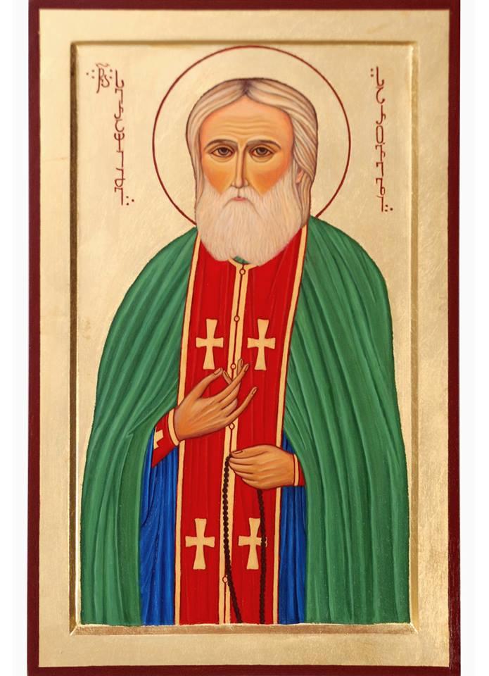 Badri bukia. Icon of the Holy Seraphim of Sarov