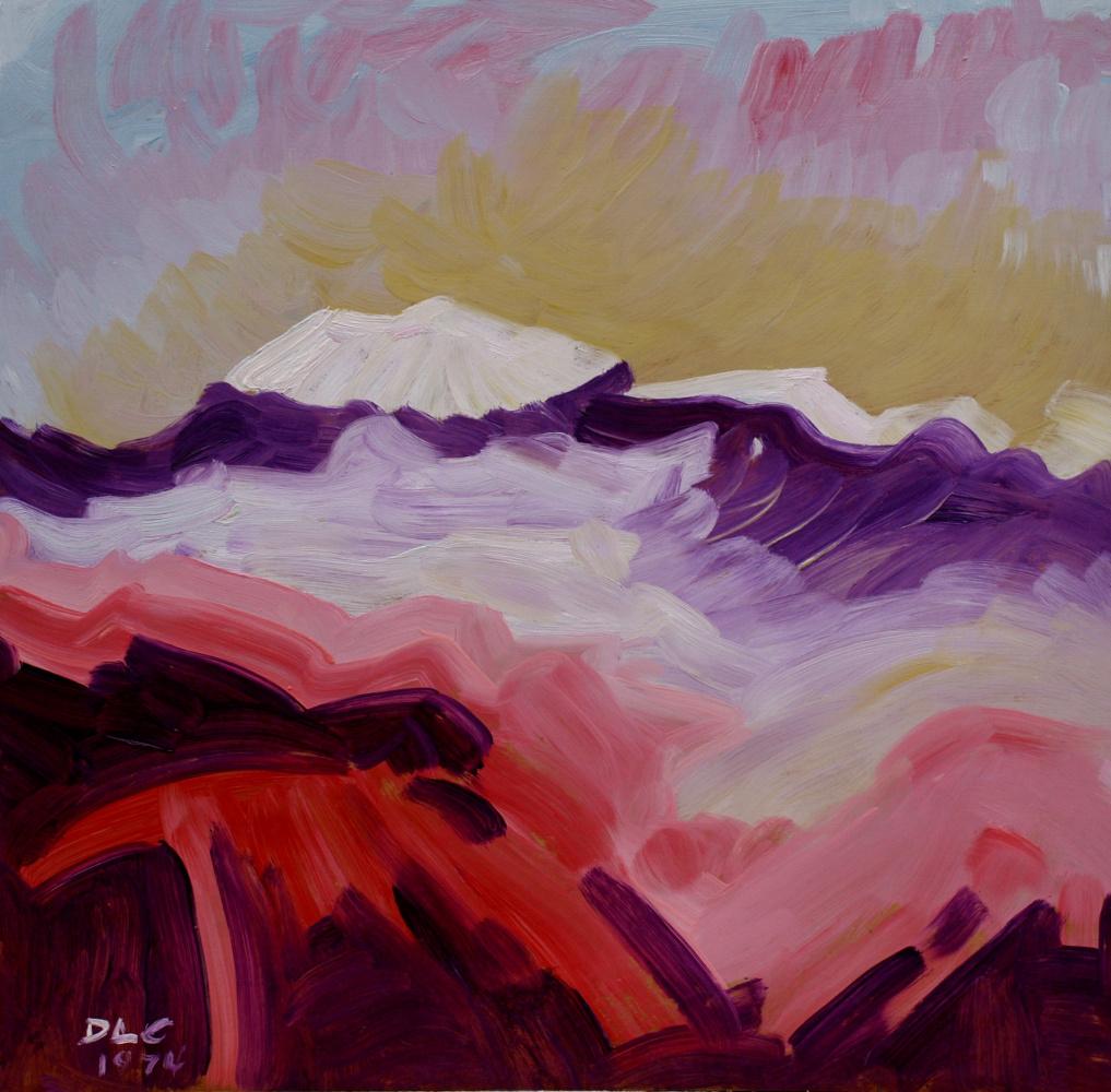 Alexander Ocher Kandinsky-DAE. View of Elbrus. Evening